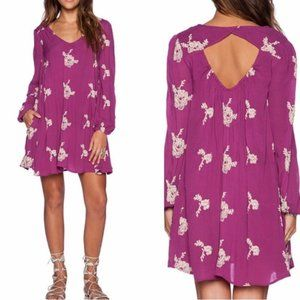 NWT Free People Floral Cut Out Dress L